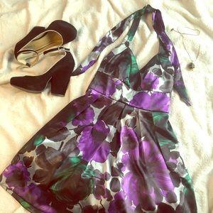 floral print mini dress (semi-formal)